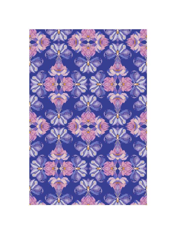Iris blue pattern